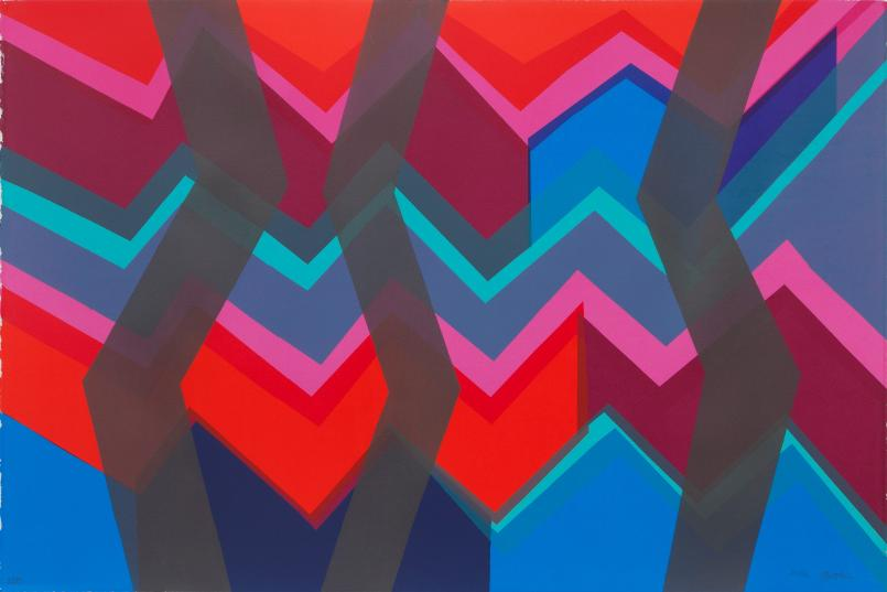 Melinda Harper, Untitled (Zig Zag) 2012, screenprint, 81 x 121 cm, 81 x 121 cm, Courtesy of the artist and NKN Gallery, Melbourne