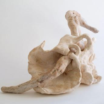 Naomi Eller, Resting Limbs 1 2015, 73 x 29 x 38 cm ceramic, branch, oil paint, wax and shellac Collection of the artist © the artist