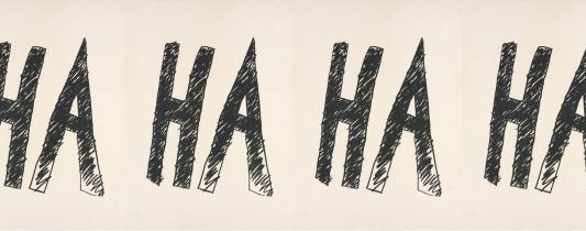 Aleks Danko, Poster for 'HA' 2006, screenprint on litho paper, ,, Museum of Contemporary Art, © the artist, Gift of Julie Ewington