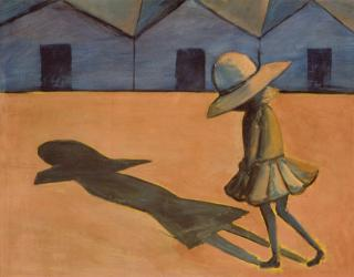 Charles Blackman, The Shadow 1953, tempera on cardboard, 59 x 75 cm, Heide Museum of Modern Art, Purchased from John and Sunday Reed 1980, © the artist